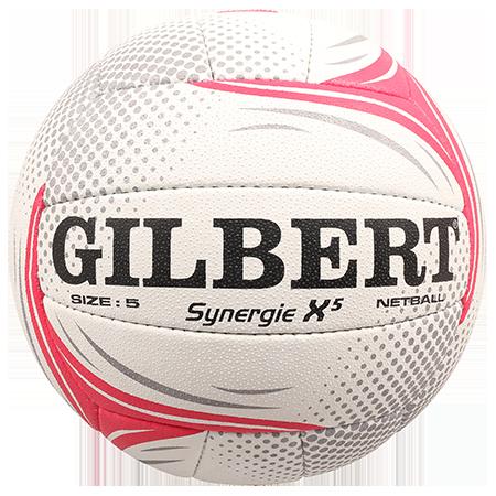 Gilbert Netball BALL SYN X5 SL VITALITY SZ 5 gilbert panel