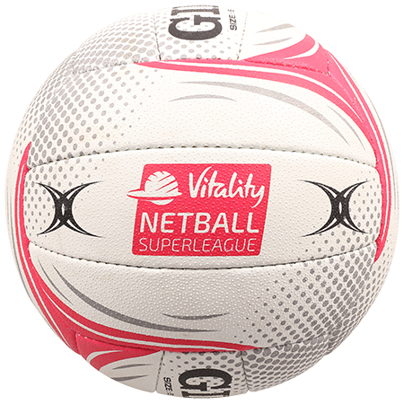 Gilbert Netball BALL SYN X5 SL VITALITY SZ 5 super league panel copy