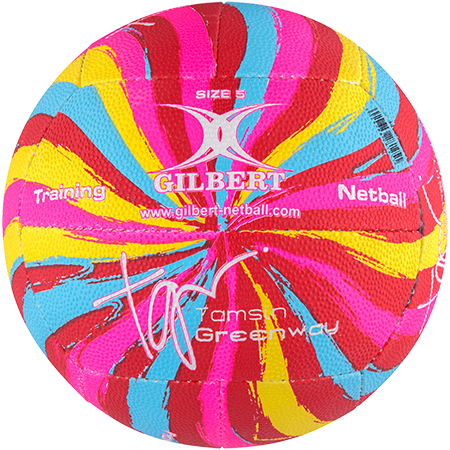 Gilbert Netball Signature Tamsin Greenway Swirl Side 2