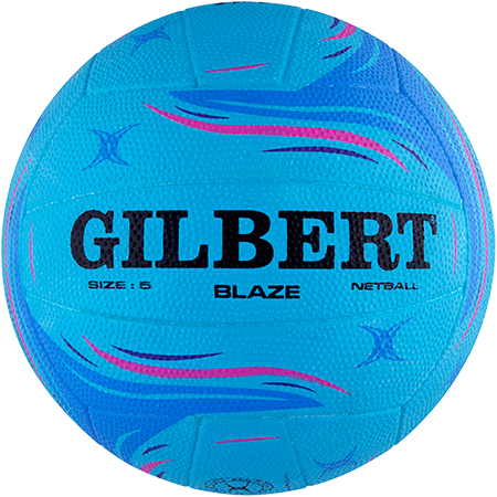 Gilbert Netball Match Blaze Blue Size 5 Side 1