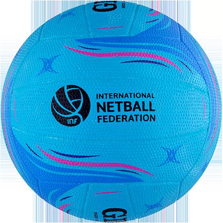 Gilbert Netball Match Blaze Blue Size 5 Side 2