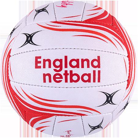 Gilbert Netball Flash England Vitality Size 5 Side 2