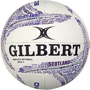 Gilbert Netball Replica Scotland Ball