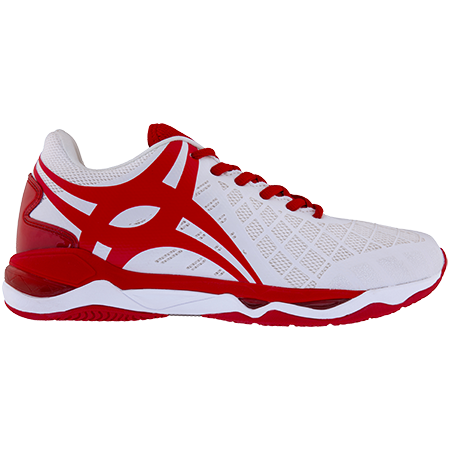 Gilbert Netball Synergie Pro Sz 6 White_red, Outstep