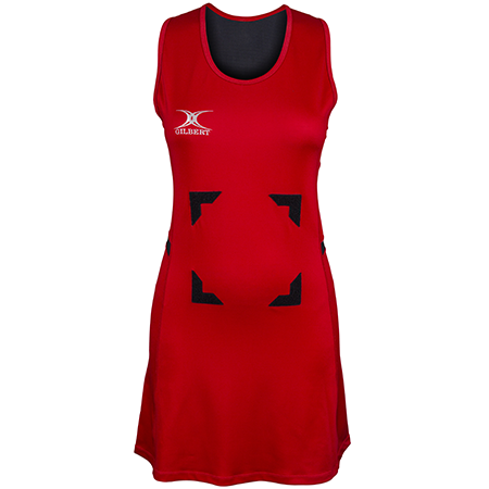 Gilbert Netball Synergie Red & Black Front