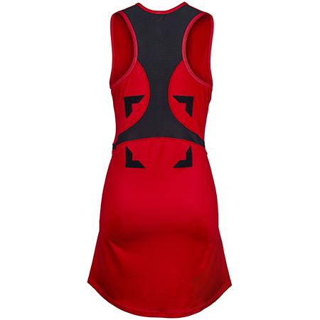 Gilbert Netball Clothing Synergie Red & Black, Back