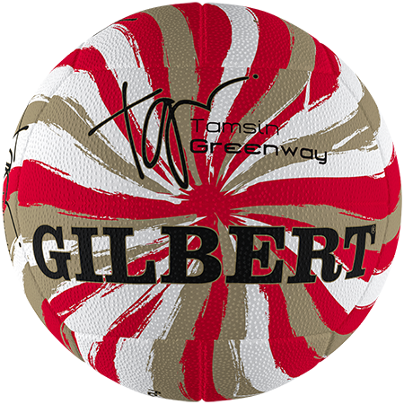 Gilbert Netball Signature Tamsin Greenway Swirl Gold Size 5 Primary