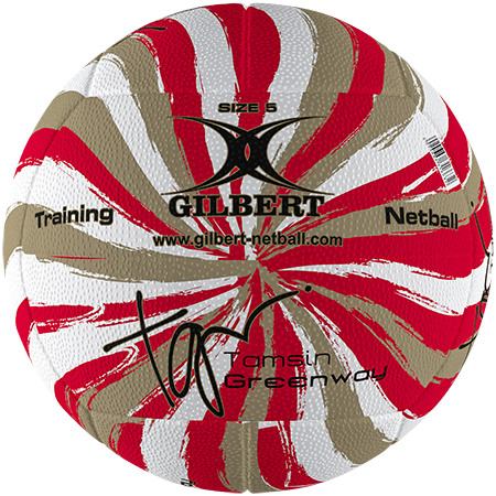 Gilbert Netball Signature Tamsin Greenway Swirl Gold Size 5 Secondary