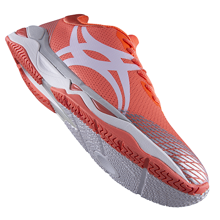 Gilbert Netball Evolution Coral Silver 8 Main