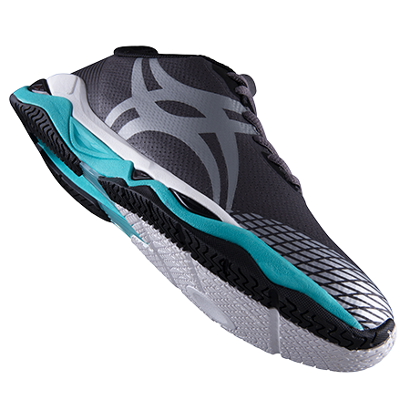 Gilbert Netball Evolution Charcoal Silver Aqua 8 Main