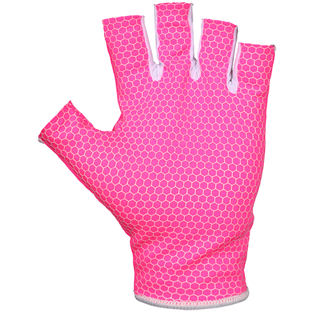 Grays Hockey Gloves Skinfit Fluo Pk_wh Pair M Front