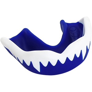 G3000 Duo White Blue Mouthguard