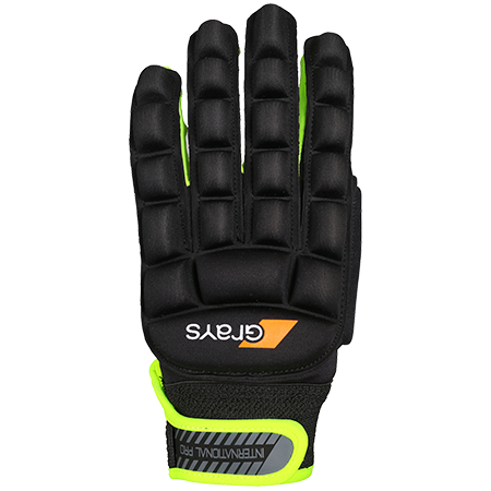 Grays Hockey Hockey Gloves Int Pro BLK NEON LH XS BACK