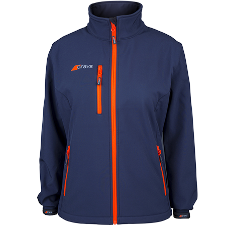 Grays Hockey Clothing Radius Soft Shell Dark Navy Womens, Front