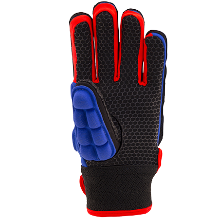 Grays Hockey Gloves Pro Blue_fluoro Red, Palm