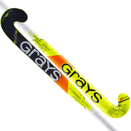 Grays Hockey Probow Micro Flouro Yellow Grey Main