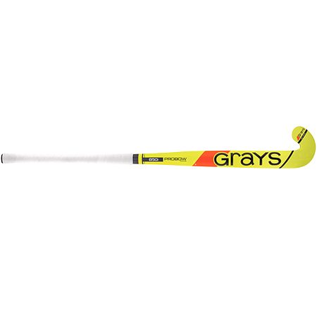 Grays Hockey Wooden Sticks 850i Ind Pb Mc Fluoro Yellow_grey, Front