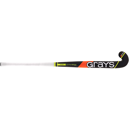Grays Hockey Wooden Sticks 500i Ind Db Mc Black_fluoro Yellow, Front