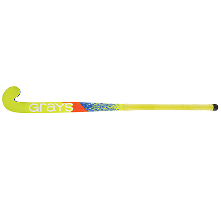 Grays Hockey Wooden Sticks Ind Exo Ub Mc Blue_fluoro Yellow, Face