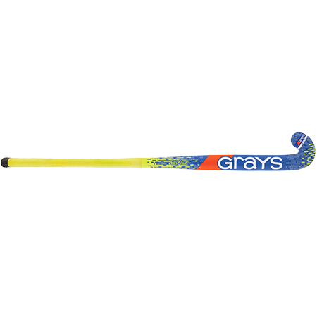 Grays Hockey Wooden Sticks Ind Exo Ub Mc Blue_fluoro Yellow, Front