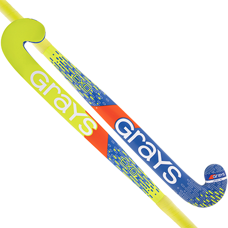 Grays Hockey Wooden Sticks Exo Ub Mc Blue_fluoro Yellow Main