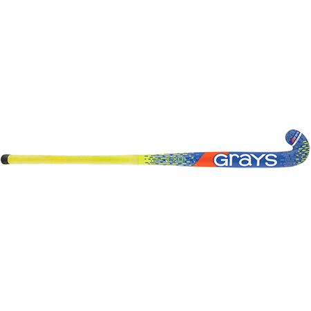 Grays Hockey Wooden Sticks Exo Ub Mc Blue_fluoro Yellow, Front