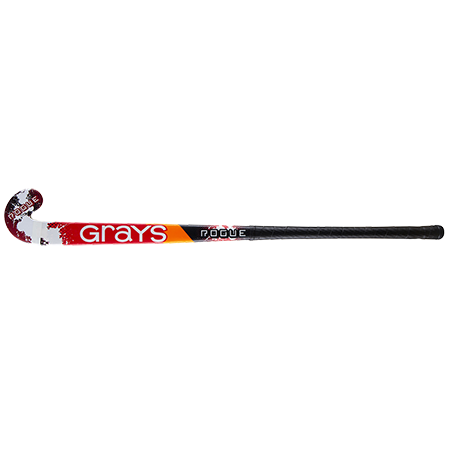 Grays Hockey Wooden Sticks Rogue Ultrabow Micro Black Red, Face