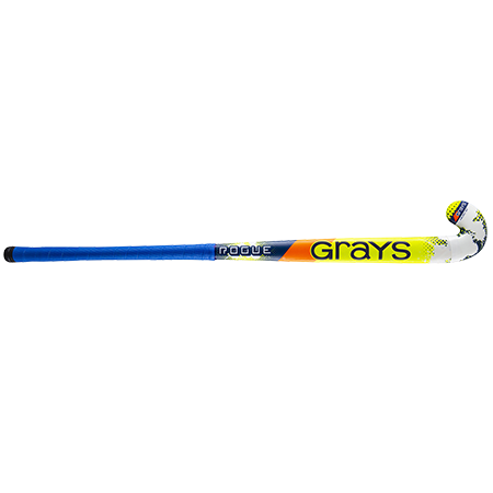 Grays Hockey Wooden Sticks Rogue Ultrabow Micro Navy Yellow Front