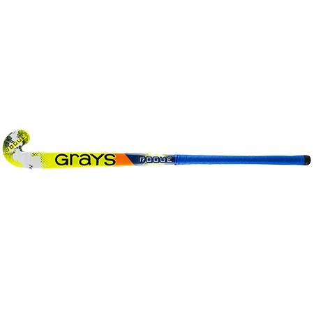 Grays Hockey Wooden Sticks Rogue Ultrabow Micro Navy Yellow, Face