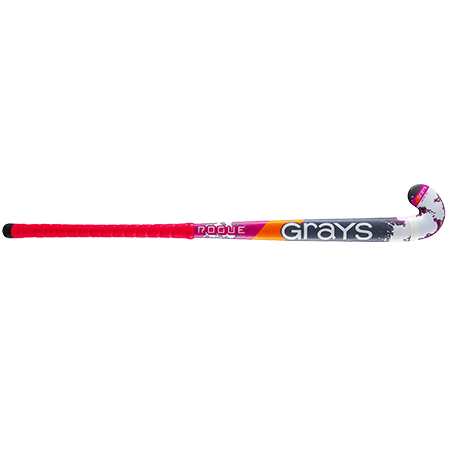 Grays Hockey Wooden Sticks Rogue Ultrabow Micro Pink Grey Front