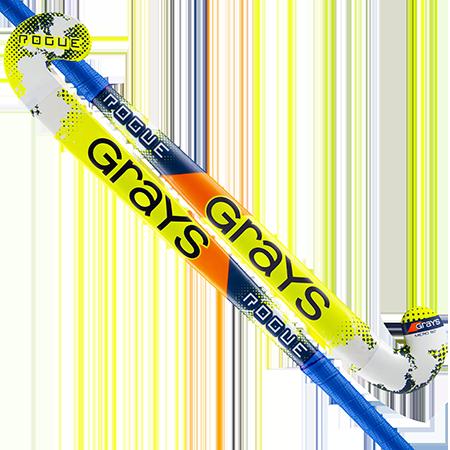 Grays Hockey Wooden Sticks Rogue Ultrabow Micro Navy Yellow Main