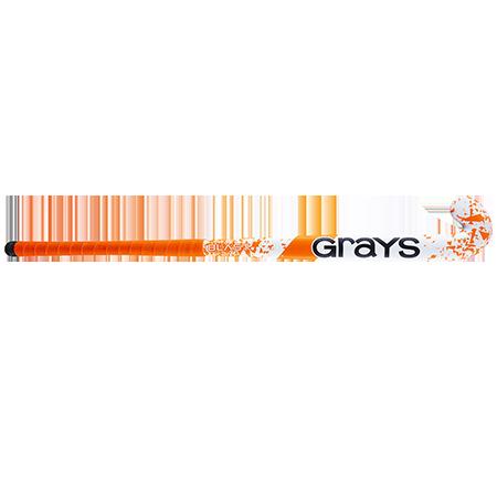 Grays Hockey Wooden Sticks Blast Ultrabow Micro White Orange Front