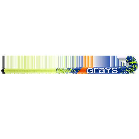 Grays Hockey Wooden Sticks Blast Ultrabow Micro Blue Yellow Front