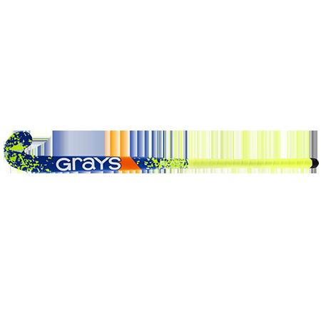 Grays Hockey Wooden Sticks Blast Ultrabow Micro Blue Yellow, Face
