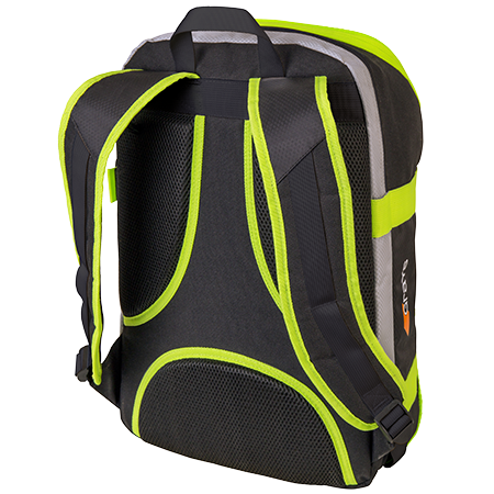Grays Hockey Holdalls Gr500 Black_neon Yellow, Back