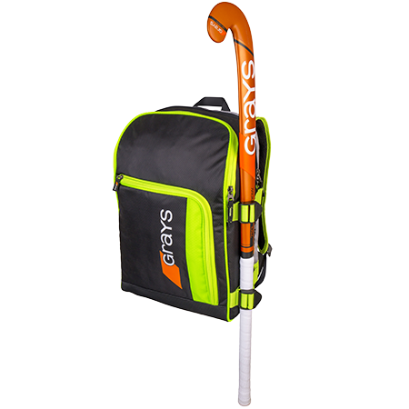Grays Hockey Holdalls Gr500 Black_neon Yellow, Front With Stick