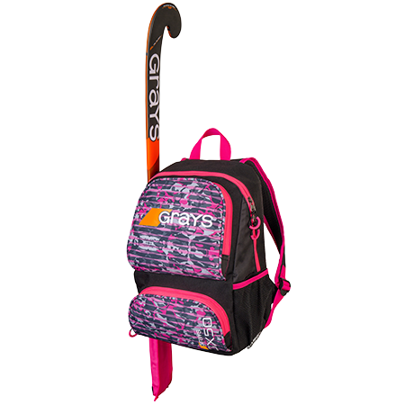 Grays Hockey Holdalls Gx50 Camo Pink, Front With Stick