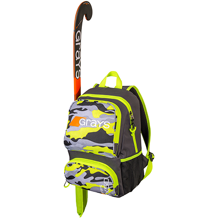 Grays Hockey Holdalls Gx50 Camo Yellow, Front With Stick