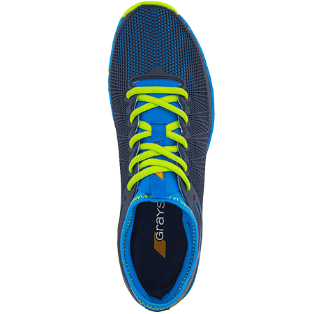 Grays Hockey Shoes Cage Ast Blue_neon Yellow, Top