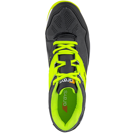 Grays Hockey Shoes Flash 4000 Black_neon Yellow, Top