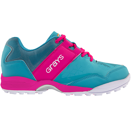 Grays Hockey Shoes Flash 40 Aqua_pink Ladies, Outstep
