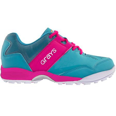 Grays Hockey Shoes Flash 40 Aqua_pink Ladies, Outstep