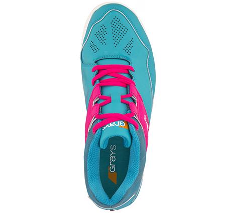 Grays Hockey Shoes Flash 40 Aqua_pink Ladies, Top