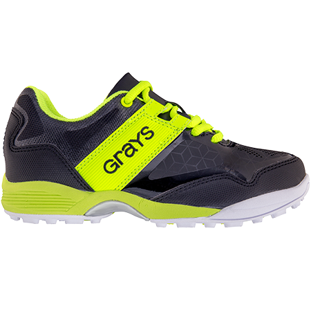 Grays Hockey Shoes Flash 40 Junior Black_neon, Outstep