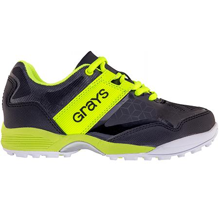 Grays Hockey Shoes Flash 40 Junior Black_neon, Outstep