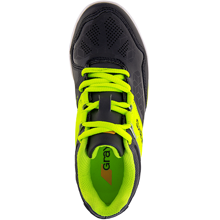 Grays Hockey Shoes Flash 40 Junior Black_neon, Top