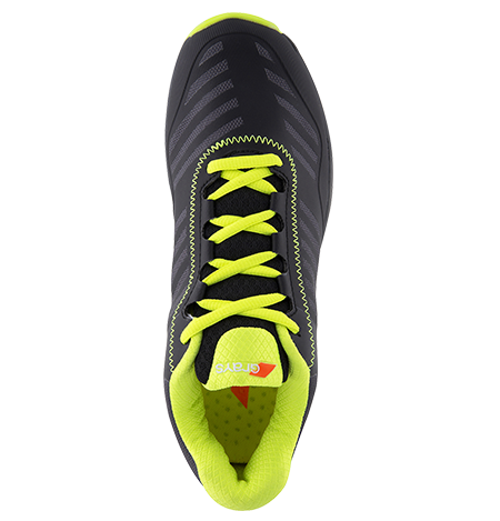 Grays Hockey Shoes Burner Black Fluo Yellow, Top