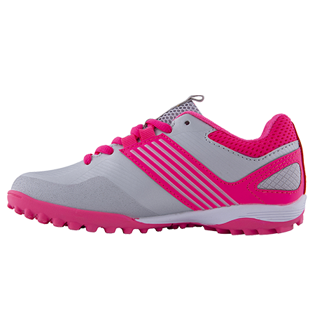 Grays Hockey Shoes Flash 2 Kids Silver Pink Instep