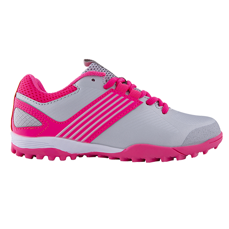 Grays Hockey Shoes Flash 2 Kids Silver Pink Outstep