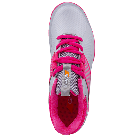 Grays Hockey Shoes Flash 2 Kids Silver Pink Top